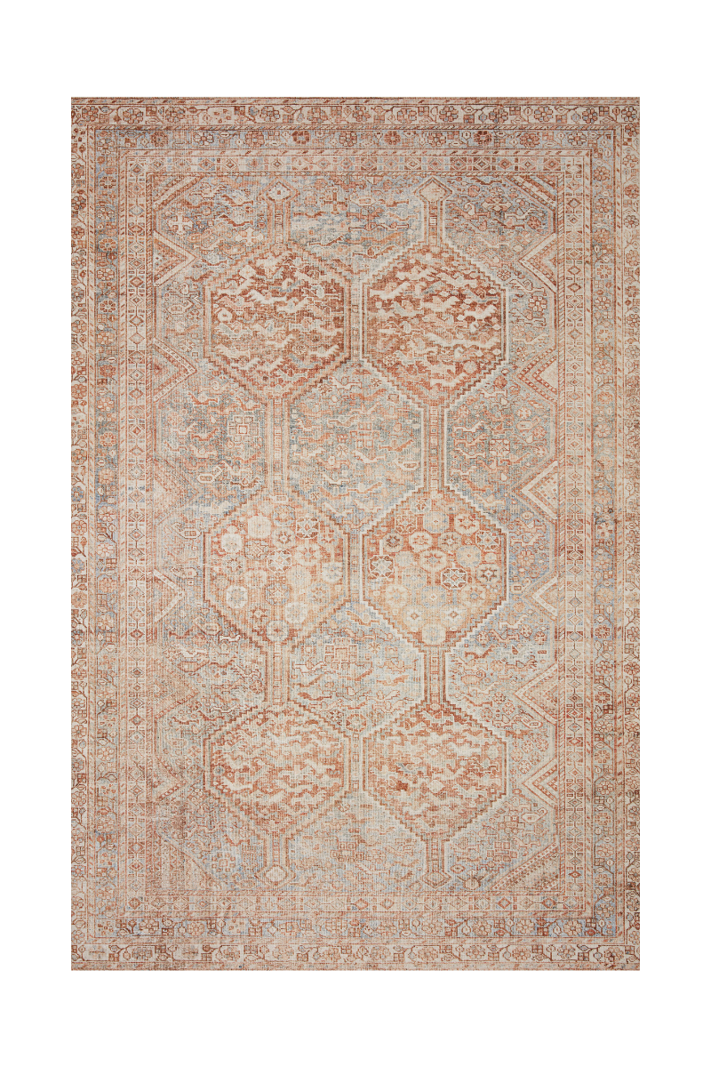 Jules Collection- Tangerine/Mist Rugs