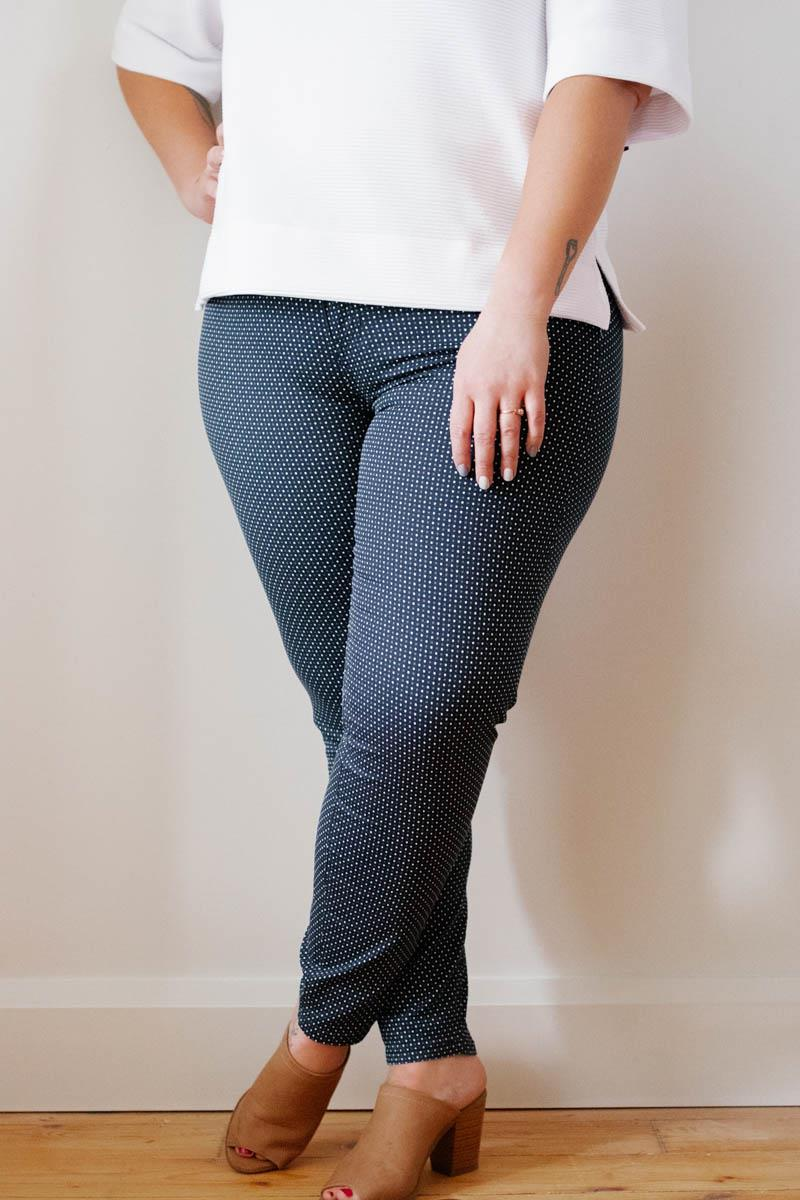 Indigo Dotted Pants