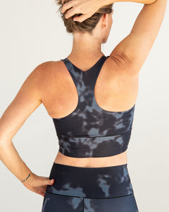 Black Fog Longline Sports Bra