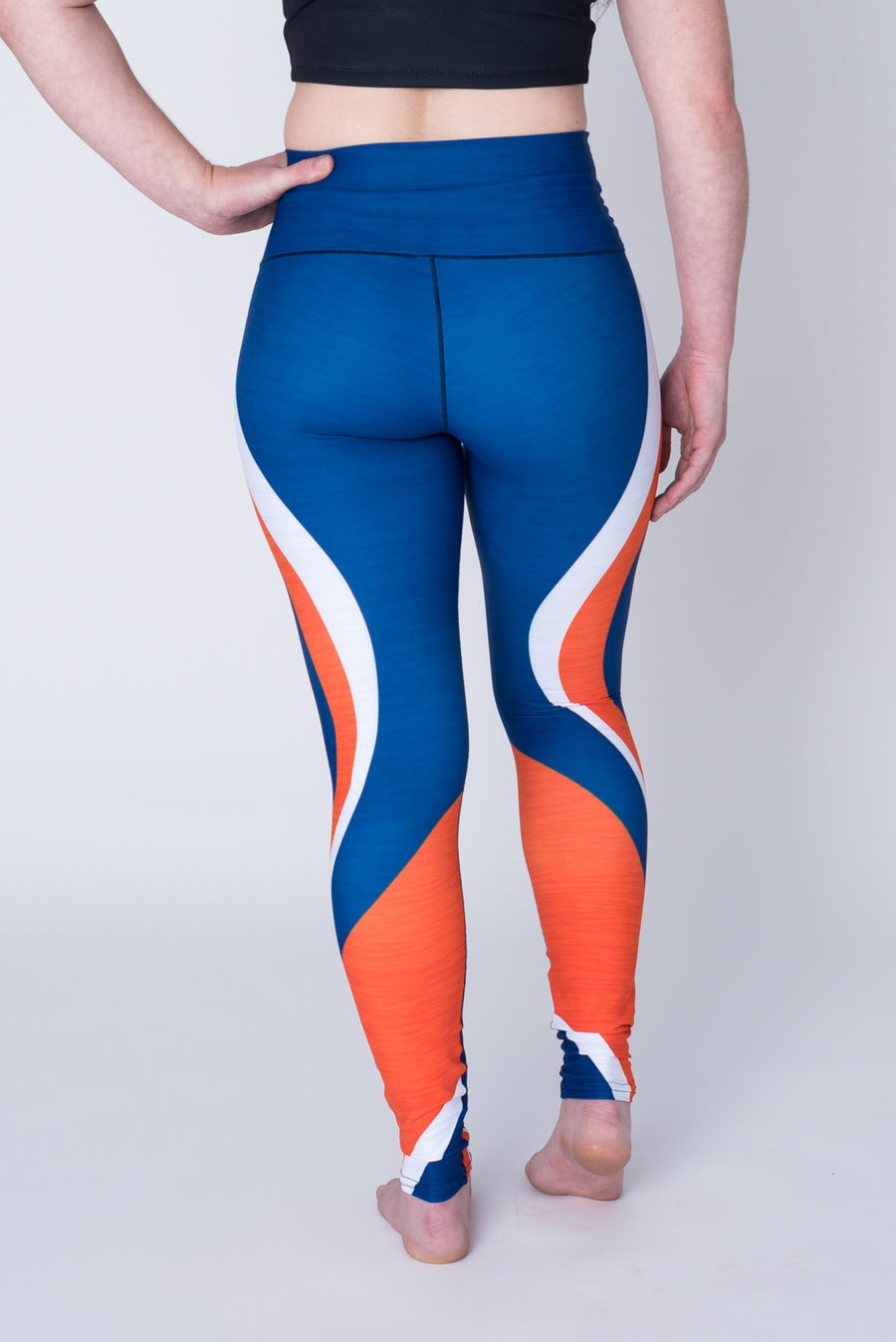 Blue & Orange Yoga Pants