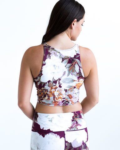 Image of Burgundy Floral Crop Top
