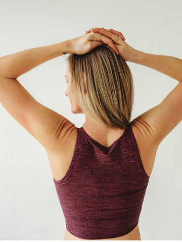 Image of Burgundy Native Crop Top