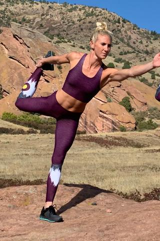 Burgundy Native Sports Bra & Yoga Pants Bundle