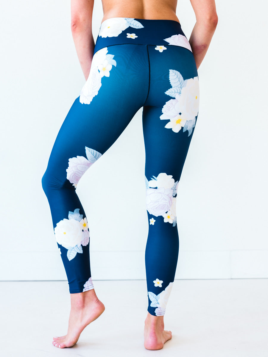 Navy Floral Yoga Pants *FINAL SALE*