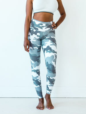 Black & White Camo Yoga Pants