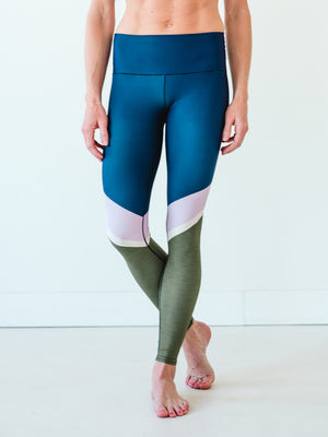 Navy Stripe Yoga Pants *FINAL SALE*