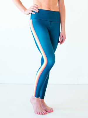 Rainbow Stripe Yoga Pants