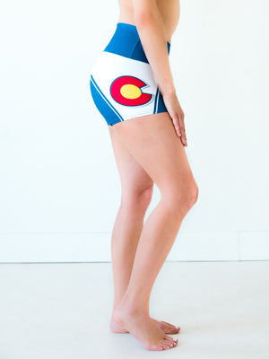 Colorado Flag Yoga Shorts