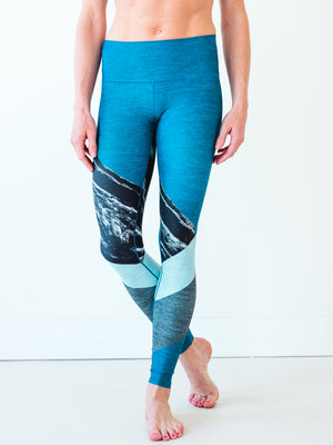 Blue Red Rocks Yoga Pants
