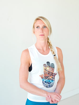 Red Rocks Hamsa Tank *FINAL SALE*