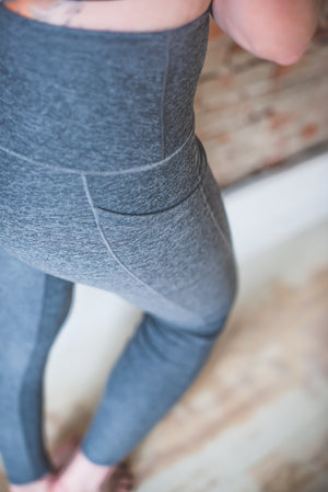 Slate Wander Pocket Yoga Pants *FINAL SALE*
