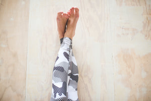 Black & White Camo Yoga Pants *FINAL SALE*