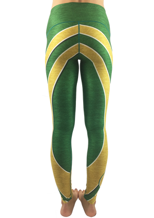 Gold & Green Yoga Pants   *FINAL SALE*