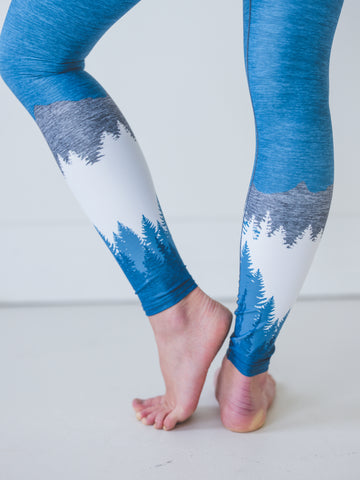 Image of Steel Blue Mountain Yoga Pants *FINAL SALE*