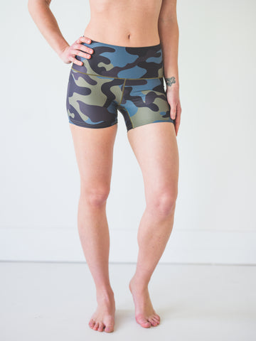 Moss Camo Yoga Shorts *FINAL SALE*