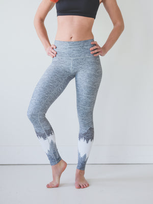 Ash Grey Mountain Yoga Pants