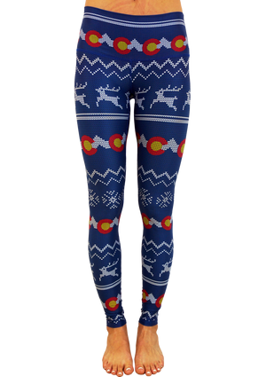 Colorado Ugly Sweater Yoga Pants