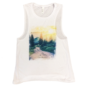 Colorado Mountain Mist Muscle Tank Top