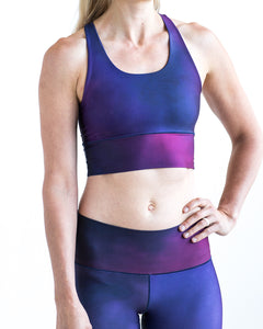 Amethyst Dreams Longline Sports Bra