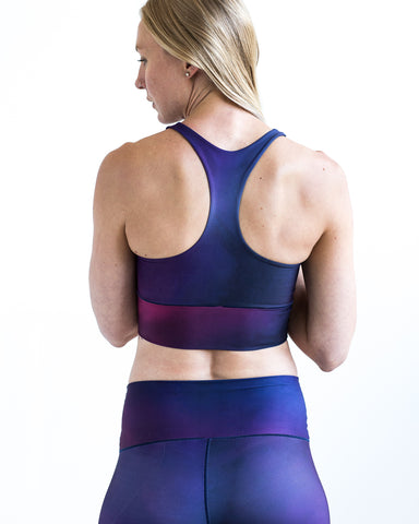 Image of Amethyst Dreams Longline Sports Bra