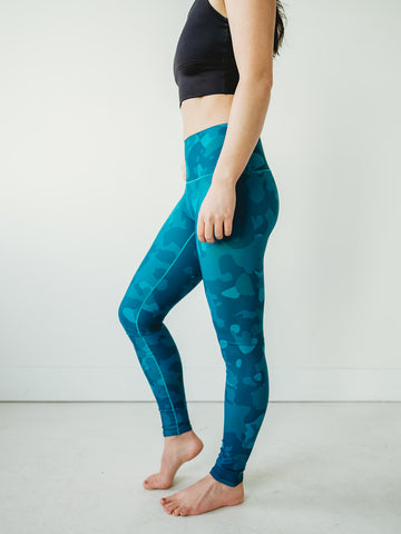 Sea Glass Camo Yoga Pants