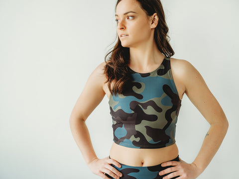Moss Camo Crop Top *FINAL SALE*