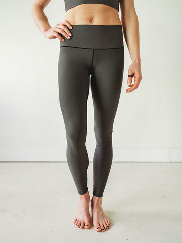 Image of Grey Microstripe Yoga Pants