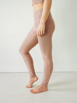 Blush Microstripe Yoga Pants
