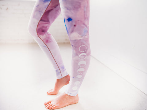 Image of Pink Tie Dye Yoga Pants