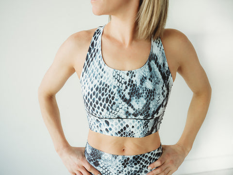 Snakeskin Longline Sports Bra *FINAL SALE*