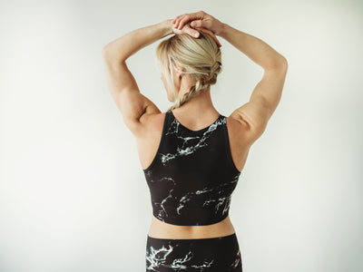 Black Marble Crop Top