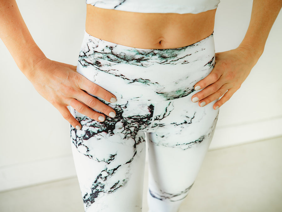 Frosty Marble Yoga Pants