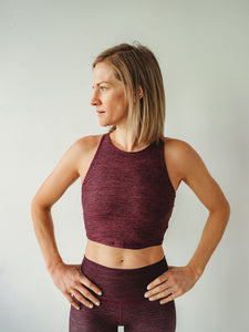 Burgundy Native Crop Top