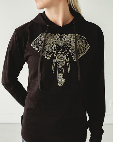 Gold Elephant Hoodie