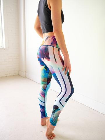 Image of Watercolor Sports Bra & Yoga Pants Bundle