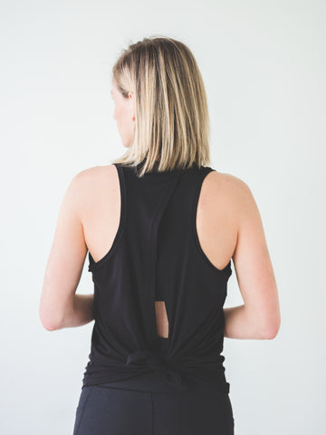 Image of Black Tie Back Tank