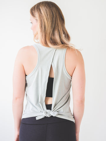 Image of Mint Tie Back Tank