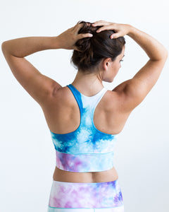 Cotton Candy Longline Sports Bra