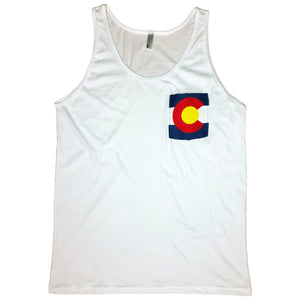 Colorado Flag Pocket Tank Top
