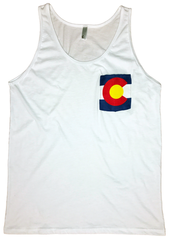Image of Colorado Flag Pocket Tank Top