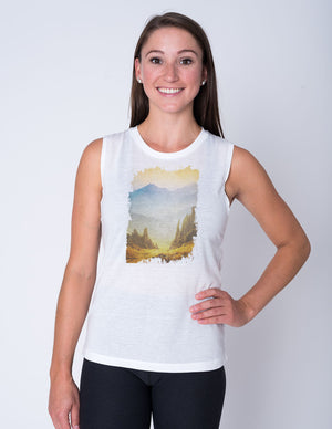 Golden Hour Muscle Tank