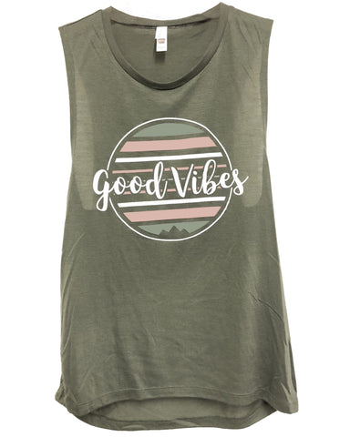 Good Vibes Muscle Tank *FINAL SALE*