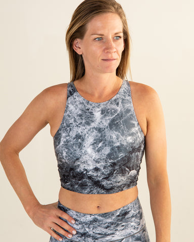 Grey Marble Crop Top
