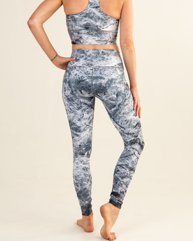 Image of Grey Marble Yoga Pants