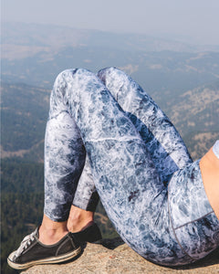Grey Marble Yoga Pants