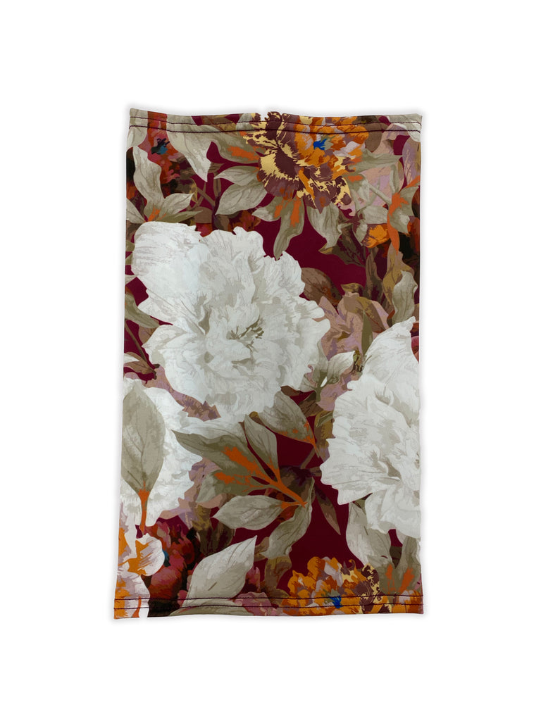 Burgundy Floral Neck Gaiter *FINAL SALE*