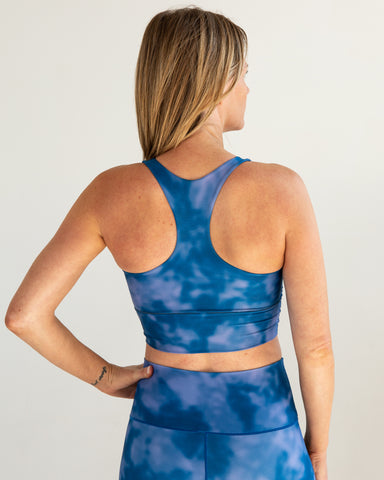 Image of Indigo Fog Longline Sports Bra