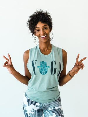 Mint Yoga Muscle Tank