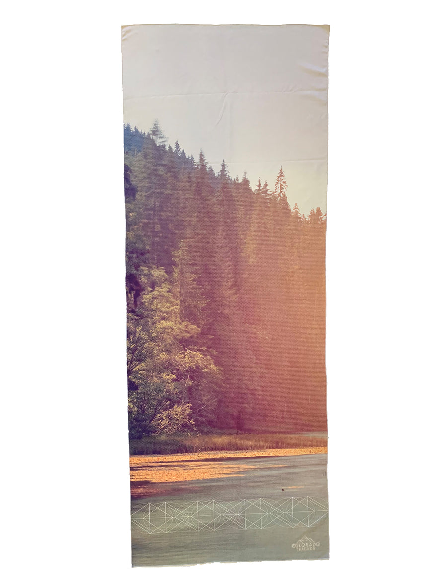Mountain Lake Yoga Mat Towel