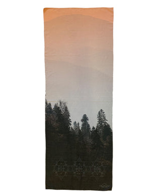 Mountain Twilight Yoga Mat Towel